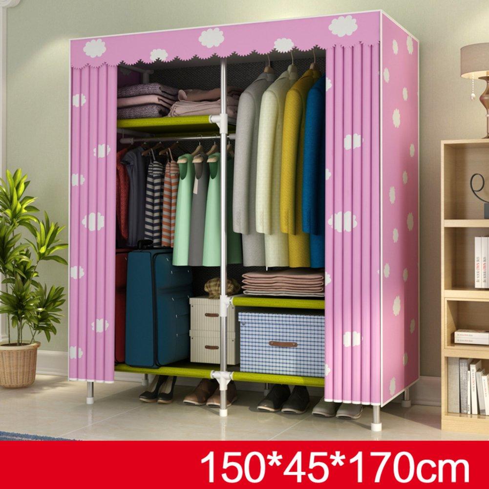 Aich Simple Wardrobe, Home Storage Cloth Wardrobe Simple Modern Economy Wardrobe-Washable-A by Aich