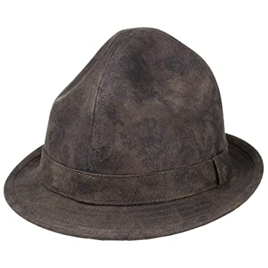 4fedc104e44e6 Amazon.com  Lierys Dreispitz Leather Hat Women Men  Clothing