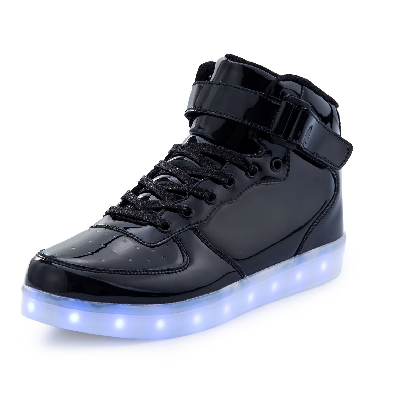 FLARUT Enfants Chargement USB LED Chaussures Clignotant Chaussures Sport Baskets
