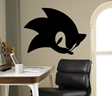 Amazon Com Sonic Hedgehog Vinyl Decal Sonic Wall Vinyl Sticker Video Game Cartoons Home Interior Children Kids Room Decor 19 Snc Toys Games