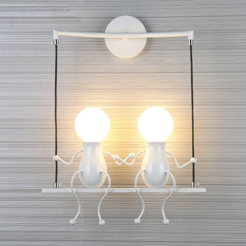 Wadnleuchte Modern Kreativ Einfach Minimalistische Dekoration Wandlampe Wandlicht Wand Beleuchtung Leuchte Wandbeleuchtung 2 flammig Wohnzimmer Schlafzimmer Wohnung Küche Flur Lampe Eisen E27 Max 40W