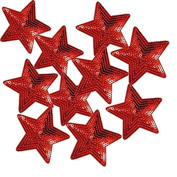 Rhinestone//Star Sew-On Badge//Iron-On Patch Crystal Diamond Rhinestone Glitter Sequins Iron On Rhinestone Star 10/cm