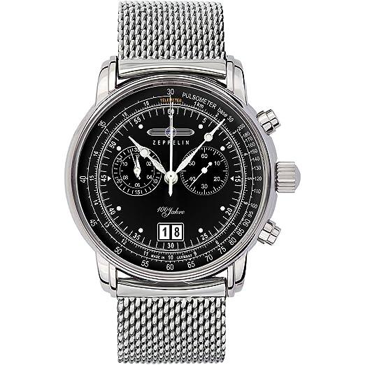 Zeppelin Reloj Unisex de Analogico con Correa en Chapado en Acero Inoxidable 7690M2: Amazon.es: Relojes
