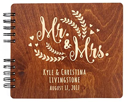 Amazon.com: Personalizado libro de invitados para boda Mr ...