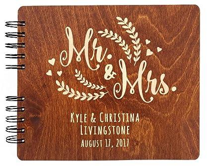 Amazon.com: Personalizado libro de invitados para boda Mr ...
