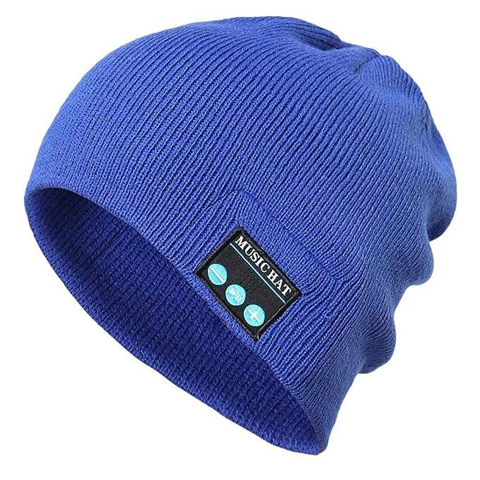 ... de Bluetooth Gorro de Punto de Bluetooth Altavoz Manos Libres inalámbrico Smart Beanie pequeño Hat Gorra de Musica: Amazon.es: Ropa y accesorios