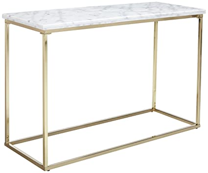 Amazon.com: Coaster Home Accents Modern White/Brushed Brass ...