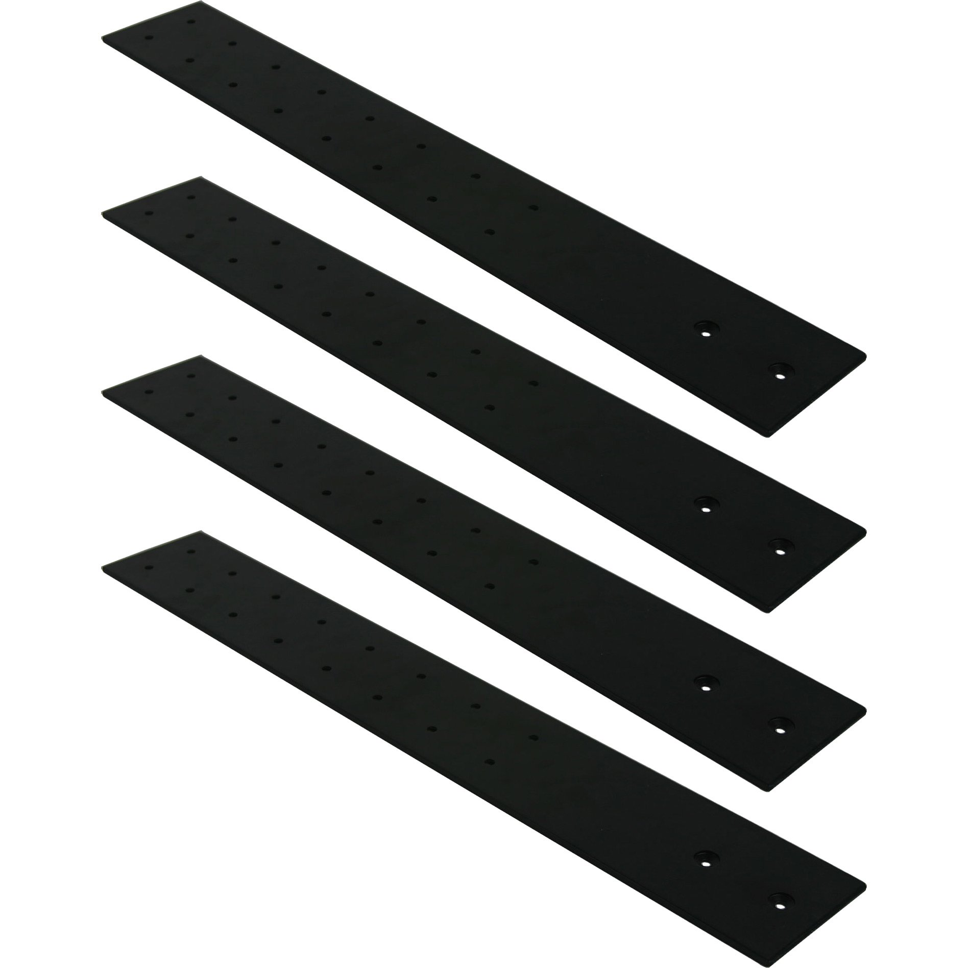 FastCap 09906 3-1/2-inches x 24-inches Black SpeedBrace Stealth 300LB, 4-Pack