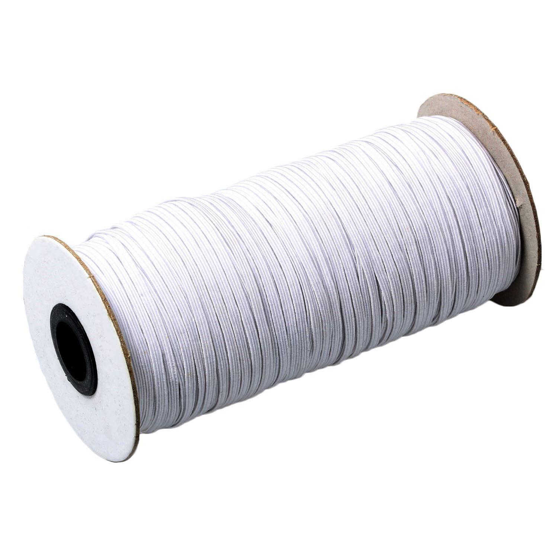 Approx. 1//2 Width Braided Elastic Cord//Elastic Band//Elastic Rope//Bungee//Black Heavy Stretch Knit Elastic Spool Black Top Hunter Black 40-Yards Length 1.2CM