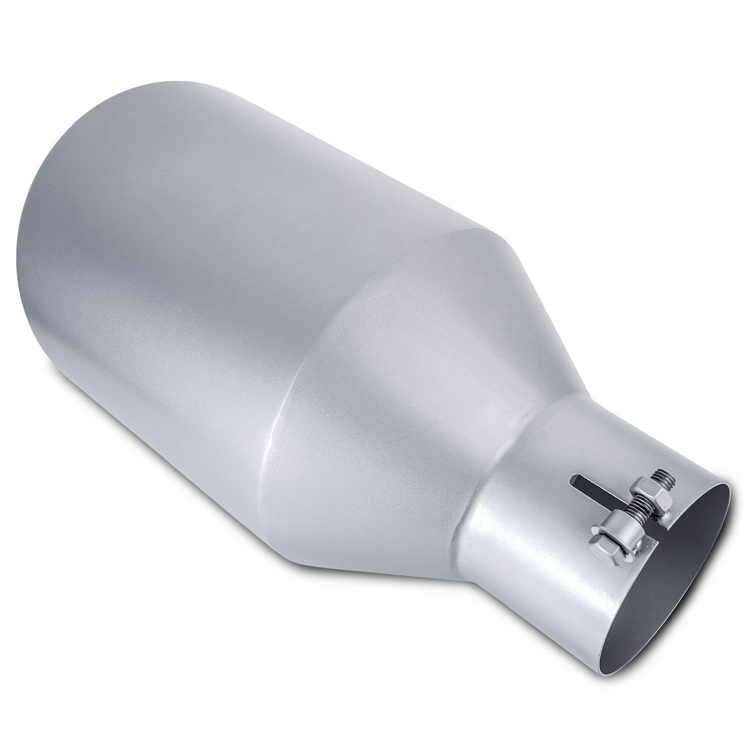 Diesel Trucks Silver Stainless Steel Bolt On Diesel Exhaust Tip 4' inlet 8' Outlet 15' Long KT-SUPPLY
