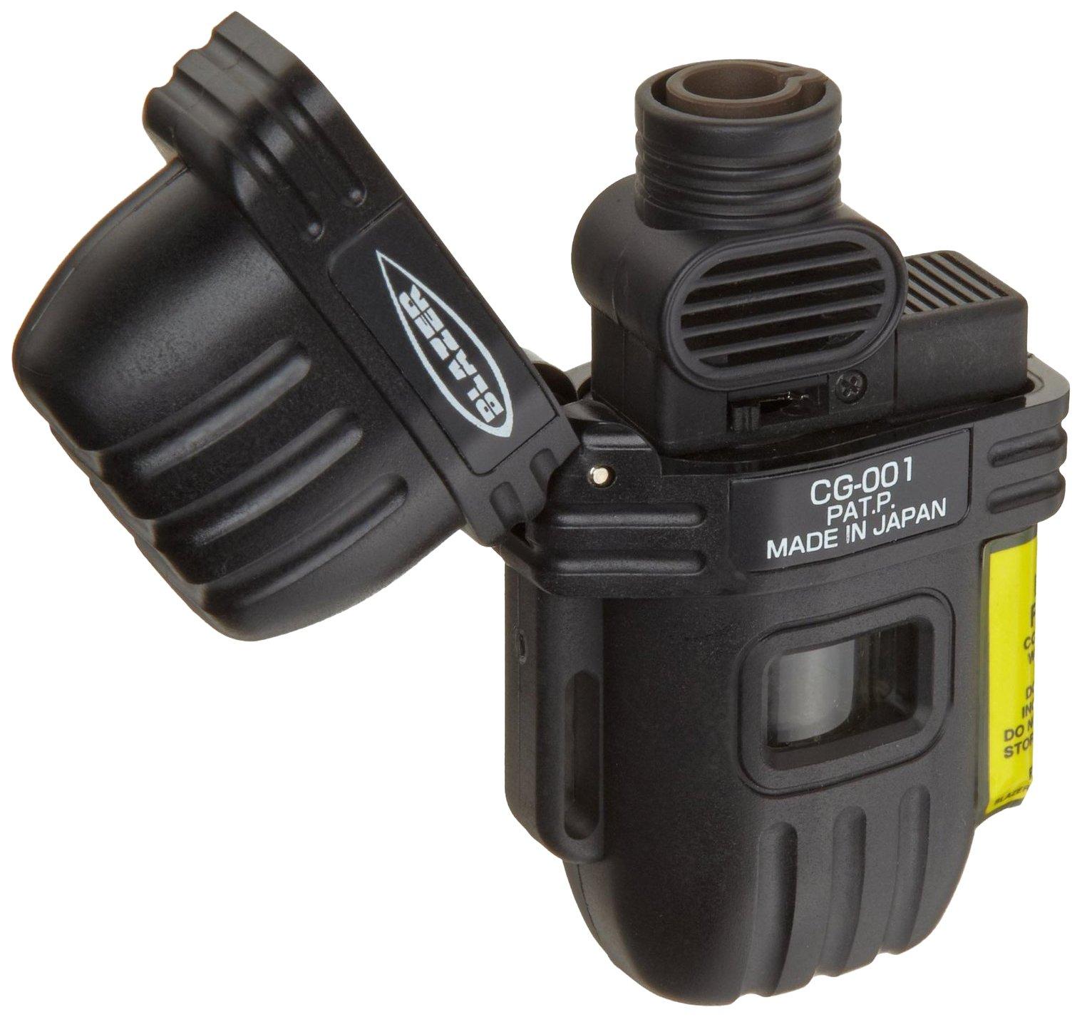 Blazer CG-001 Wide Flame Butane Refillable Torch Lighter, Black