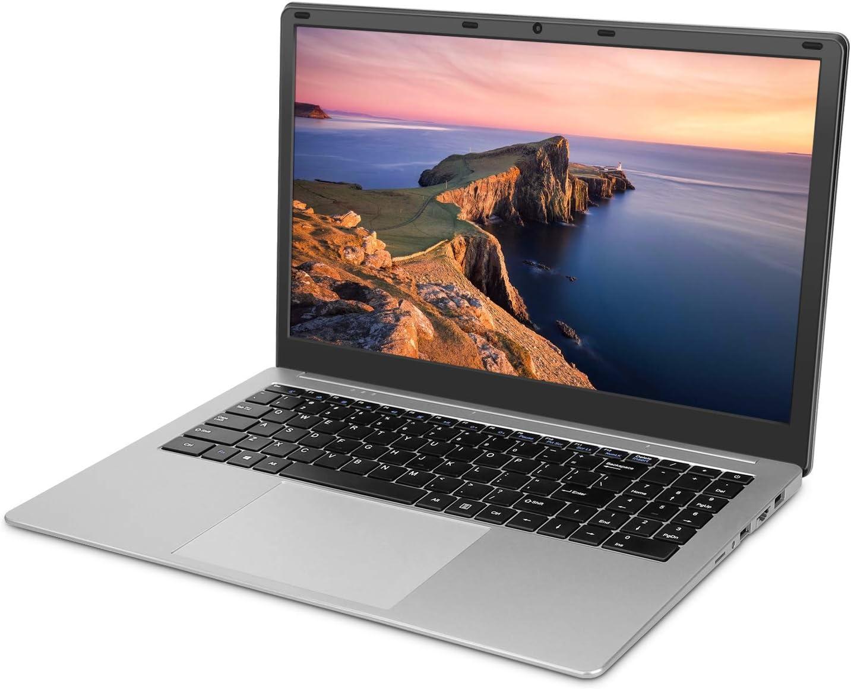 YELLYOUTH Laptop 15.6 inch Notebook Intel Quad Core 6GB RAM 120GB SSD Full HD Display with WiFi Mini HDMI Windows 10 Laptop Computer Silver