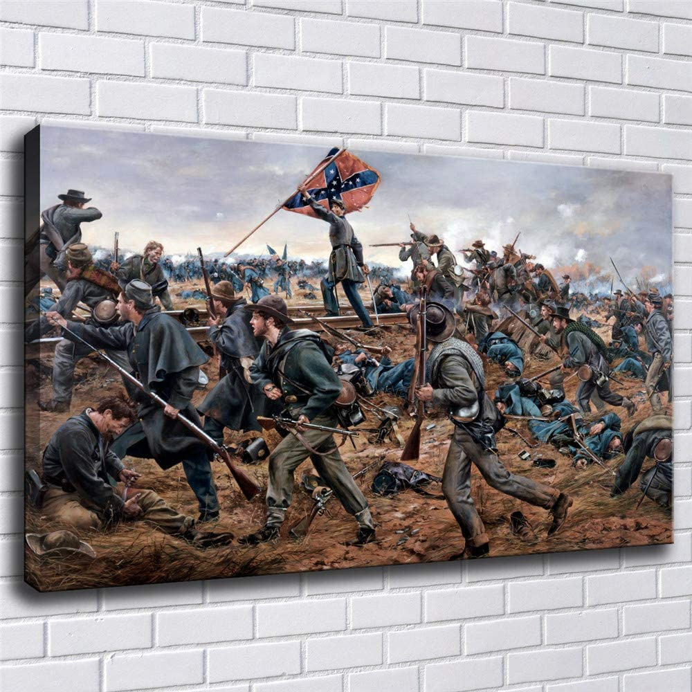 Civil War Battle of Gettysburg Wall Art Deco Oil painting HD print on canvas