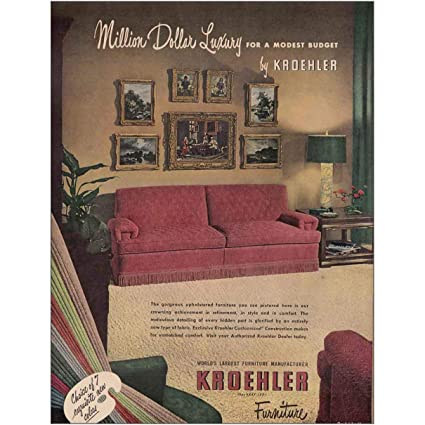 Amazon Com Relicpaper 1949 Kroehler Furniture Million Dollar