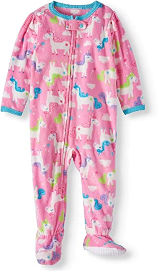 Carter/'s Girls Large Dots Microfleece Footed Blanket Sleeper Toddler  Sz 5T