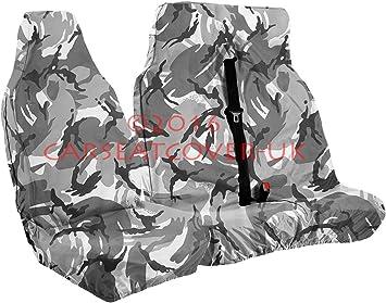RENAULT KANGOO VAN 09+ CAMOUFLAGE VAN SEAT COVERS 2 SINGLE 1+1