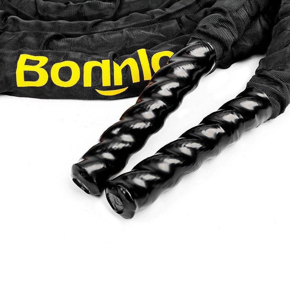 bonnlo batalla entrenamiento cuerda con cubierta protectora, 1,5