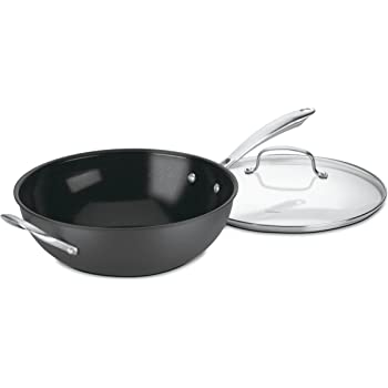 Amazon Com Calphalon Unison Nonstick 13 Inch Flatbottom