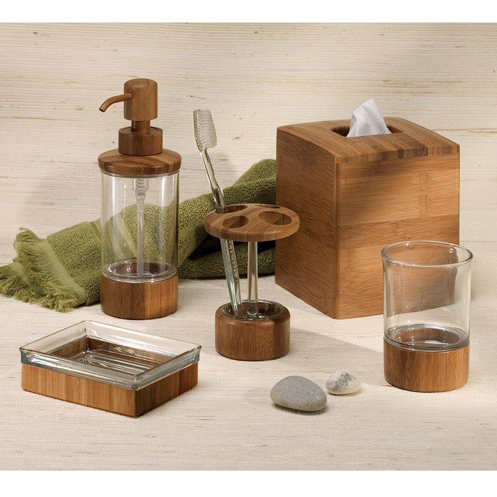 Amazon Com Interdesign Formbu Bath Collection Facial Tissue Box