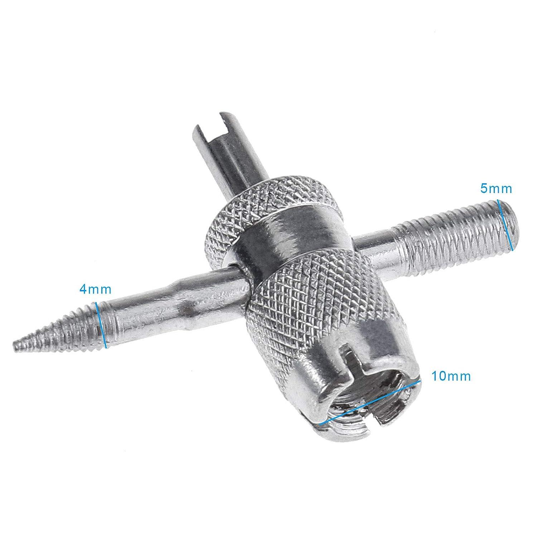 ENET pour Voiture ou Moto de v/élo en m/étal Roue de Pneu Valve Stem Extracteur Core Remover Tool Kit