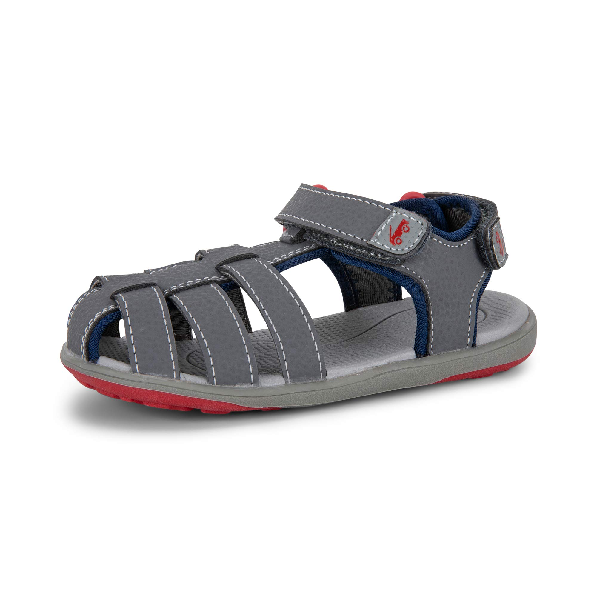 See Kai Run - Cyrus III Water-Friendly Sandals for Kids, Gray, 9 by See Kai Run