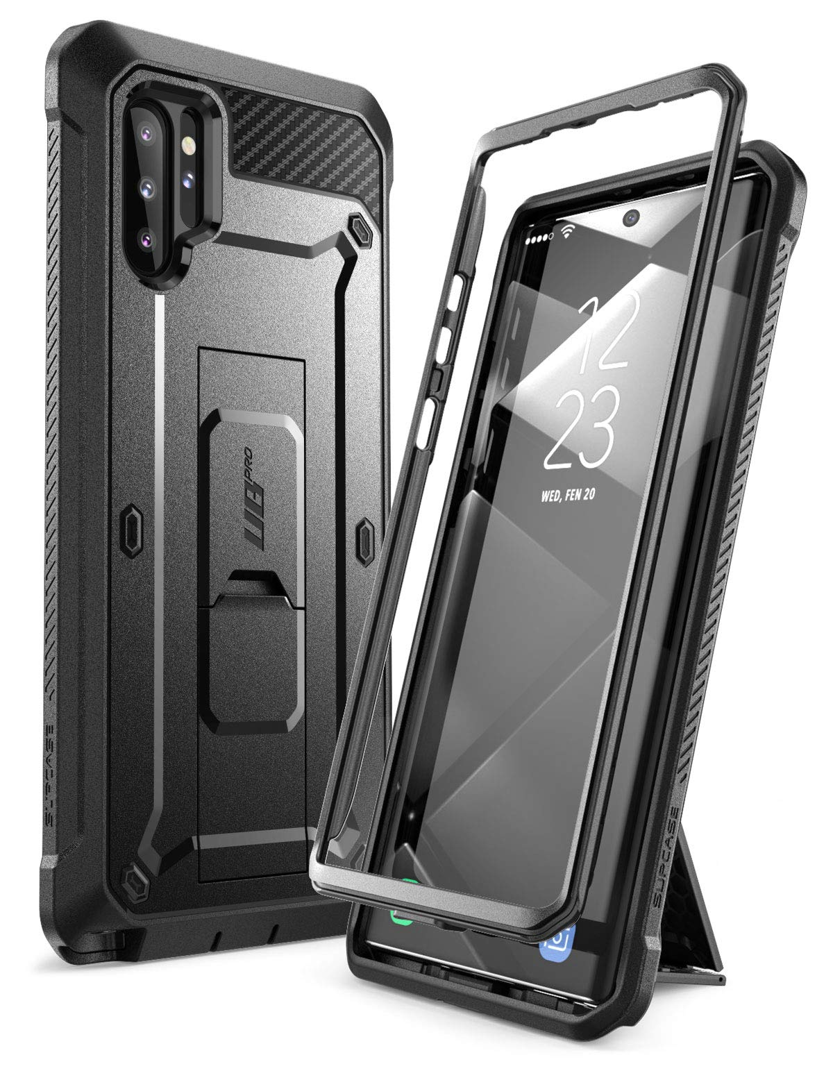 SUPCASE Unicorn Beetle Pro Series Case Designed for Samsung Galaxy Note 10 Plus/Note 10 Plus 5G, Full-Body Rugged Holster & Kickstand Without Built-in Screen Protector (Black) by SupCase