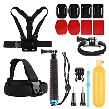 SHOOT Deportivo 8 en 1 Kit Accesorios para GoPro Hero 7/6/5/