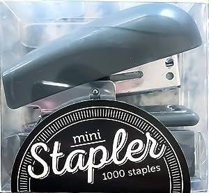 Office Depot Brand Mini Stapler with Color Staples, Gray