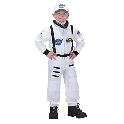 Charades Astronaut Suit Children's Costume, White, Medium: Toys & Games