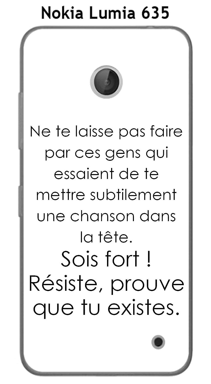 Carcasa Nokia Lumia 635 Design citación ne te Laisse pas ...