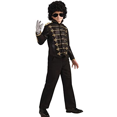 Michael Jackson Child's Deluxe Military Jacket Costume Accessory, Small, Black: Toys & Games