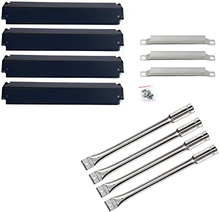 Burners Heat Plates Crossover Tubes Igniters Grill Replacement Kit for Charbroil