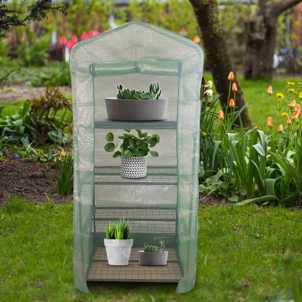 S Grande Taille Vert Serre de Jardin PE Plastique Tente Abri Serre ...