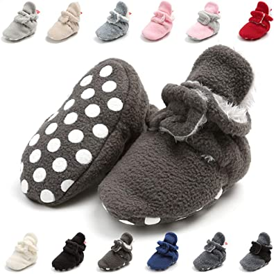 Infant Boots for Toddlers Walking Moccasins Soft Sole Crib Shoes Baby Boys Girls First Walkers Plush Cozy Winter Boots