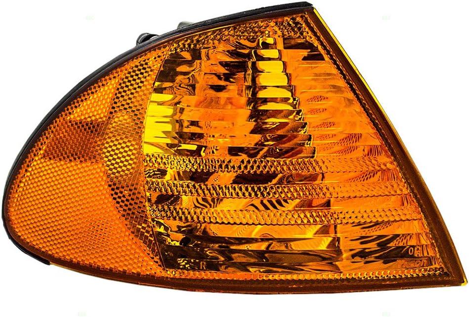 Passengers Park Signal Corner Marker Light Lamp Lens Replacement for BMW 63136902766 AutoAndArt