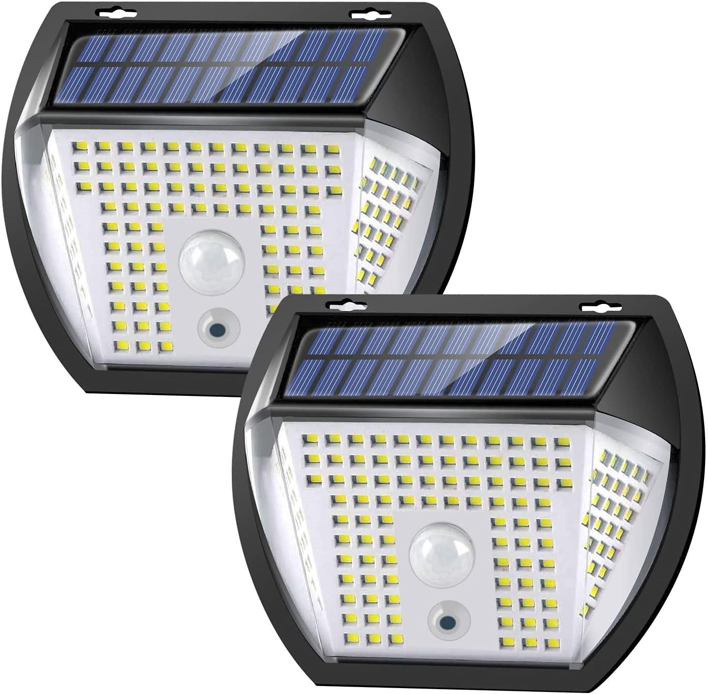 Magnetic Solar Motion Sensor LED Wall Light,IP65 Waterproof 3 Lighting Modes,Damage-Free Installation and Portable,Flexible RV Safety Lighting for Entry Steps,Deck and Porch,2 Packs