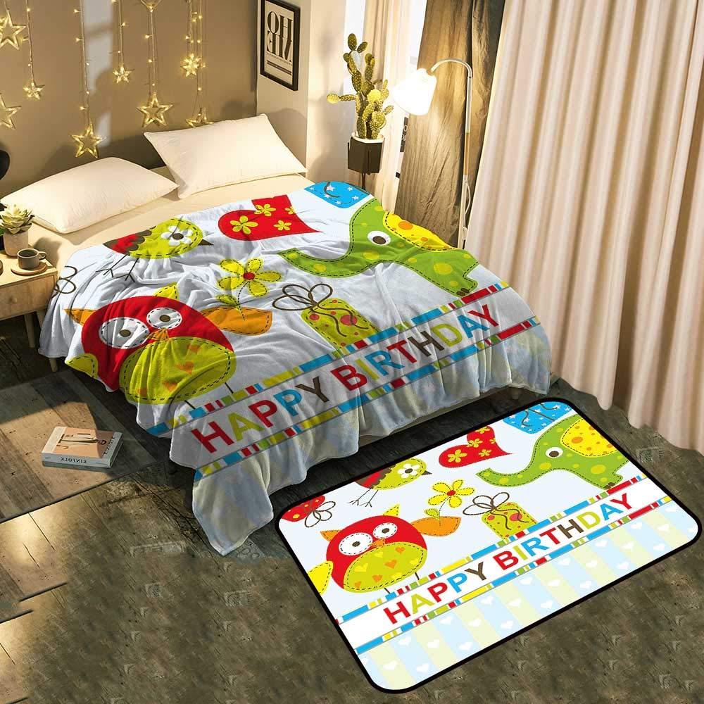 Custom&blanket Manta de Piso de Dos Piezas para niños Russel ...
