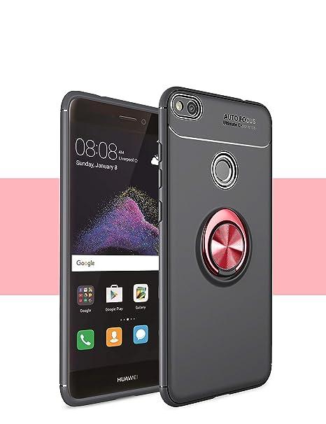 Funda Huawei P8 lite/GR3 Case, 360 Grados Caso Carcasa Case Cover Skin móviles telefonía Silicona Líquida Fundas Magnético coche Kickstand Carcasa ...
