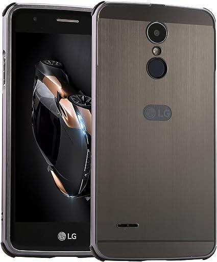 LXHGrowH Funda LG K8 2017, Prueba de Golpes Aluminio Metal Bumper ...