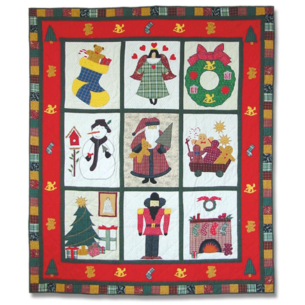 Patch Magic 50-Inch by 60-Inch Holiday Cheer Throw