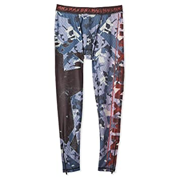 3d48b485678ed4 MNX Sportswear Ion The Legend Leggings for Men, Black and Blue ...