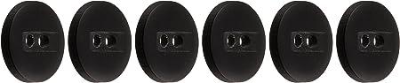 Slimline Buttons Series 1-Black 2-Hole 1/2