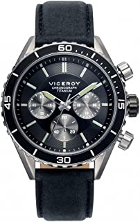 Watch Viceroy 471041-57 Steel Titanium Chronograph Leather Man