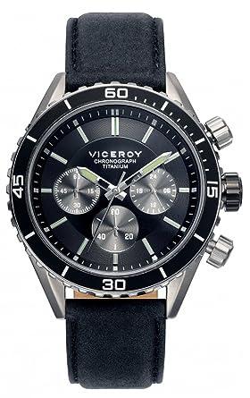 Viceroy Reloj Multiesfera para Hombre de Cuarzo con Correa en Tela 471041-57: Amazon.es: Relojes