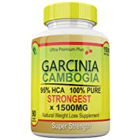 Strongest 1500MG Garcinia Cambogia 100% Pure 95% HCA Extract Extreme Weight Loss...