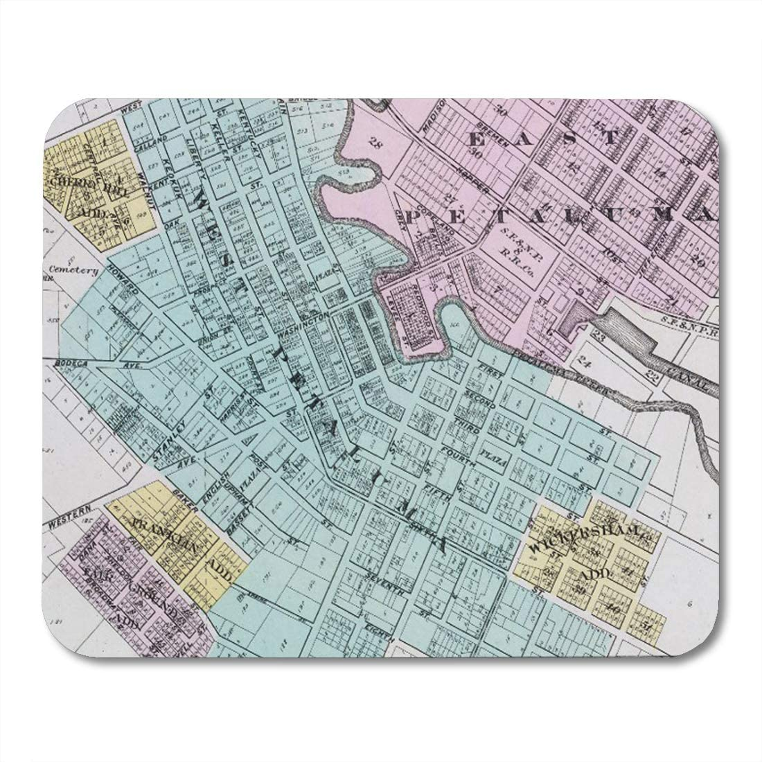 Aikul Mouse Pads Custom Turquoise Ombre Office Color Coordinated Housewares Mouse Mat 9.5 x7.9 Mouse Pad Suitable for Notebook Desktop Computers Office Accessories