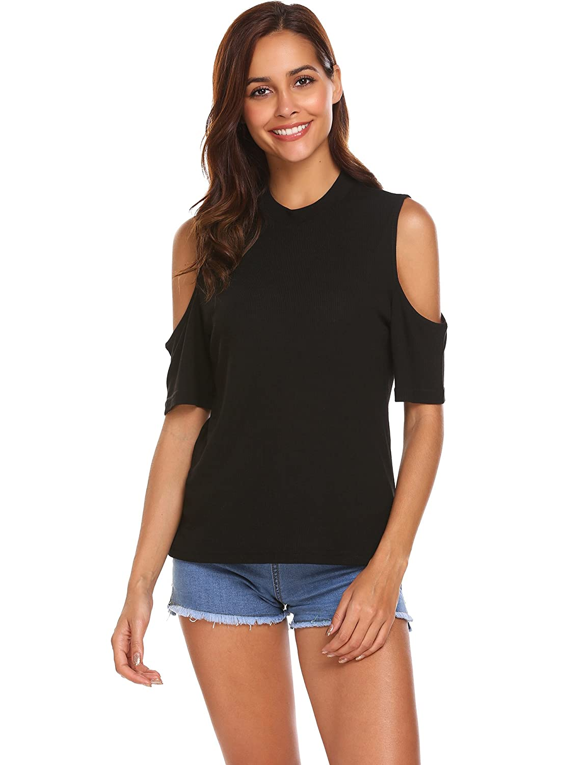 fa8eb8a87 Y-shaped cross deep round neck T-shirt/Twisted Cross Front Tees/Full Ruched  Front Top/V-neck Ruched Front Top:95%Rayon,5%Spandex