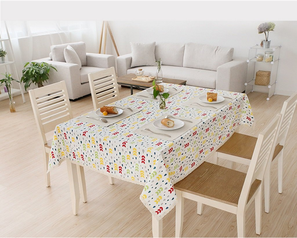 Fallen Tischdecke Baumwolle und Leinen Farbe Punkt frische Spitze Spitze Tisch Tischdecke ( größe   140180cm ) B0745BDS3C TischdeckenLassen Sie unsere Produkte in die Welt gehen | Online Outlet Shop