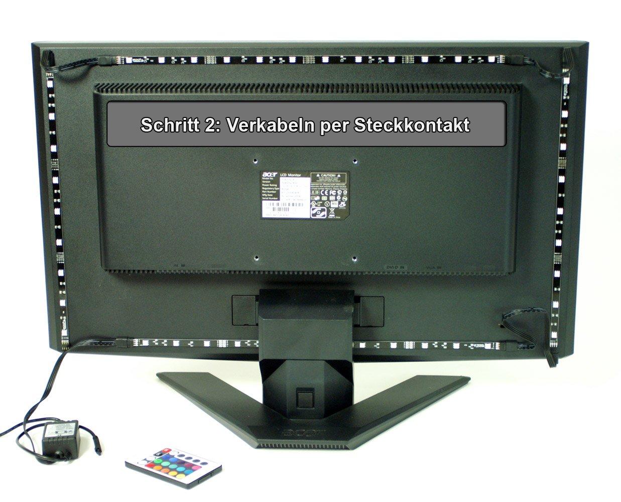 RGB TV HINTERGRUNDBELEUCHTUNG FÜR 24-42 ZOLL (61-107cm) - LED ...