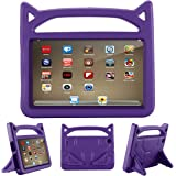 All-New F i r e HD 8 Kids Case - Riaour Light Weight Shock Proof Handle Friendly Stand Kid-Proof Case for All New A m a z o n F i r e 8 inch Display Tablet Cover(2016&2017 Release) (Purple)